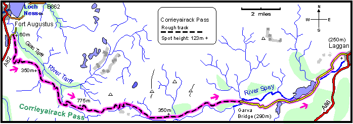 Corrieyairack_Pass_Walk_Map
